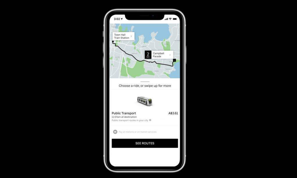 Uber to display Sydney public transport options - Strategy