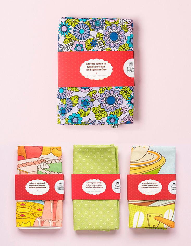 frankie tea towel and apron bundle