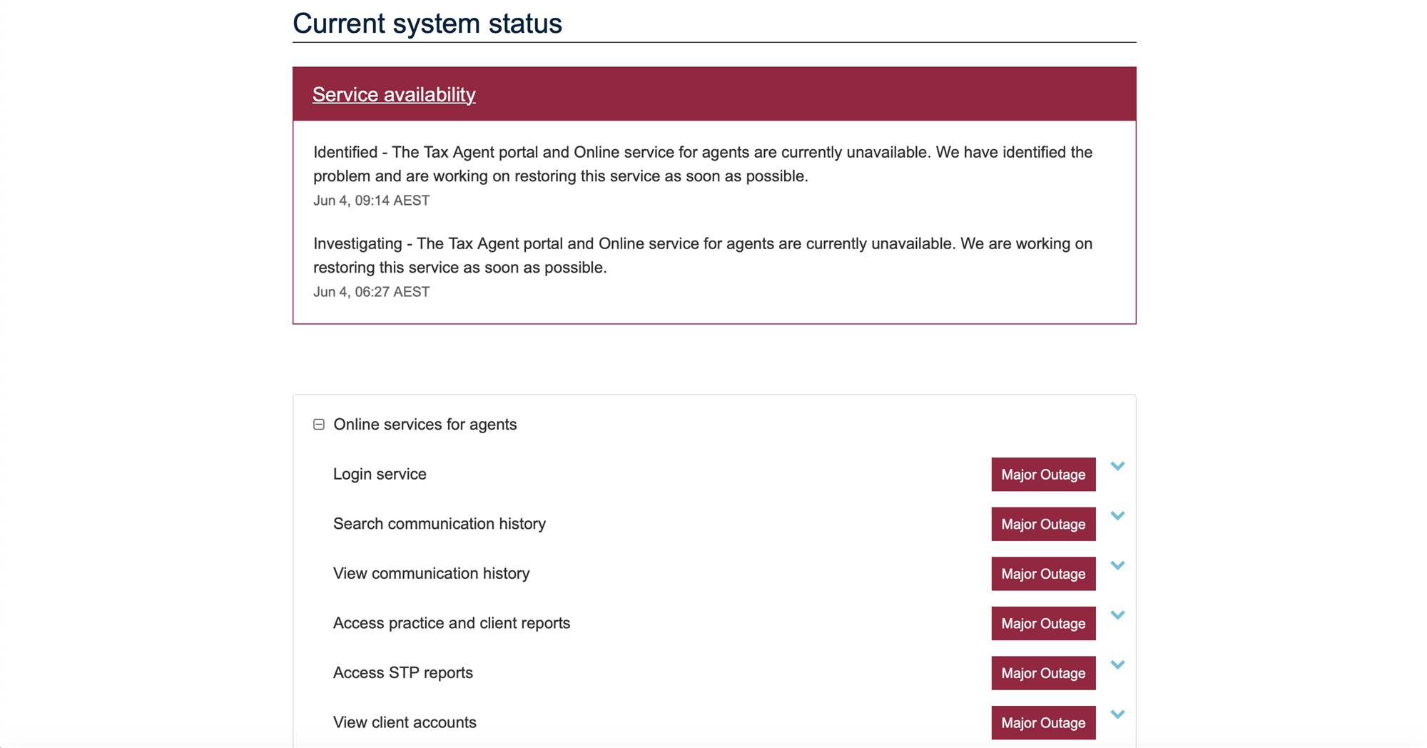 Ato Hit By Online Services Outage Software Itnews