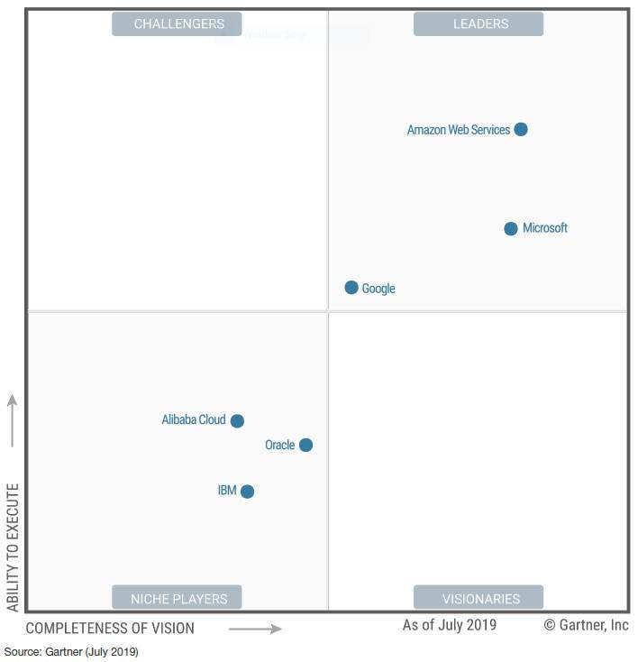 Polarising' Oracle and 'disjointed' IBM remain cloud also