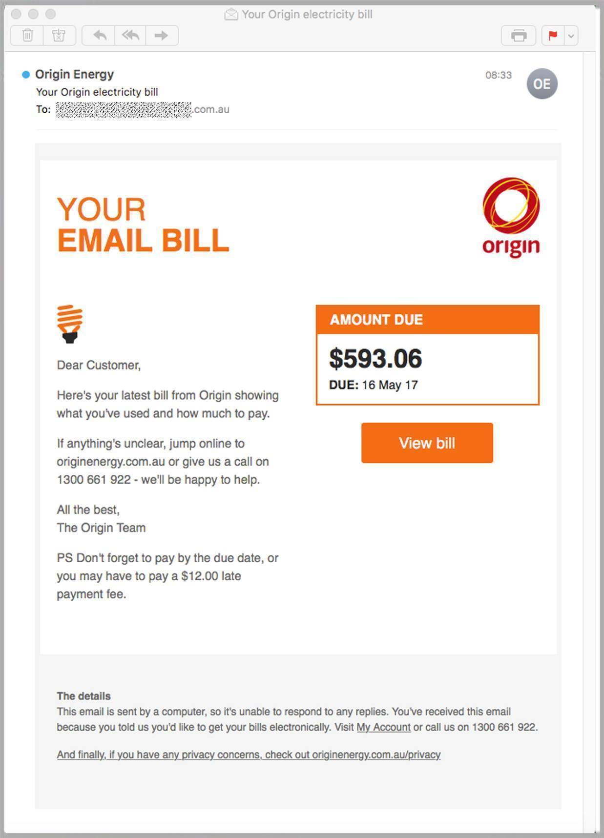 fake origin energy bills loaded with malware target aussies