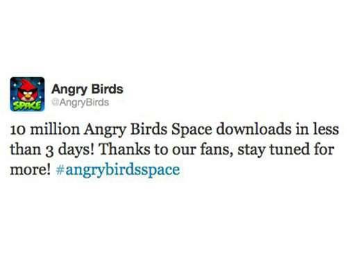 angry birds space 10 million downloads