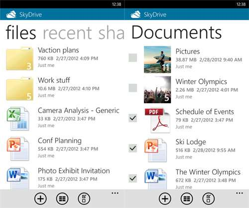 best windows phone apps skydrive