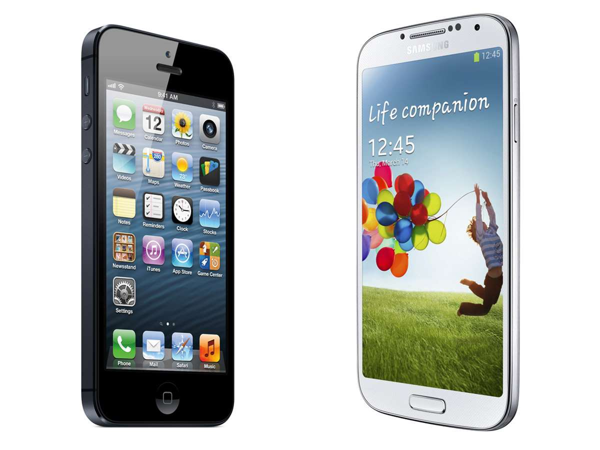 galaxy vs iphone samsung galaxy s4 vs apple iphone 5 mobility hardware 10683