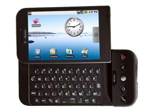 T Mobile G1 HTC gadget flashback