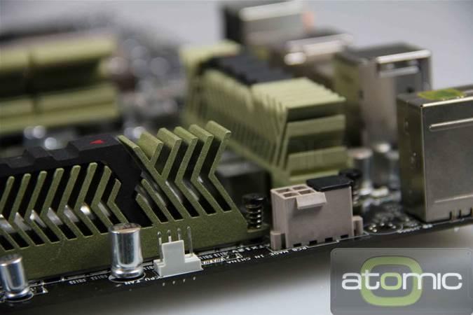 The ASUS Sabertooth X58 Ceramic-cooled motherboard