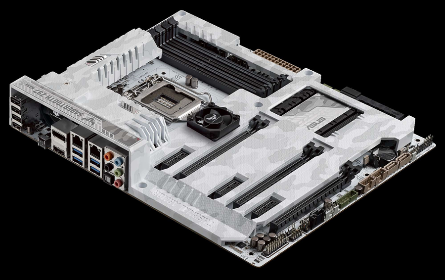 the limited edition white asus sabretooth motherboards atomic