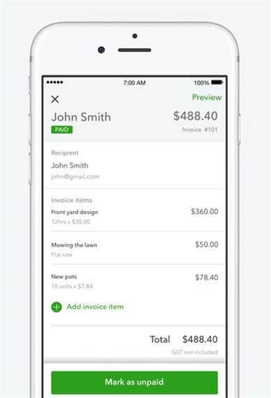 QuickBooks targets self-employed with new app - Services