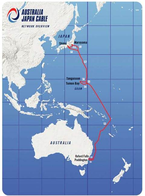 Map Of Australia Japan.Australia Japan Cable Awaits Repairs After April Break