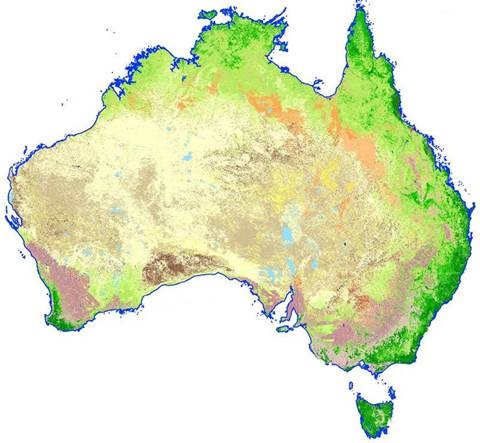 Australia Land Map.Geoscience Australia Creates Integrated Land Map Software Itnews