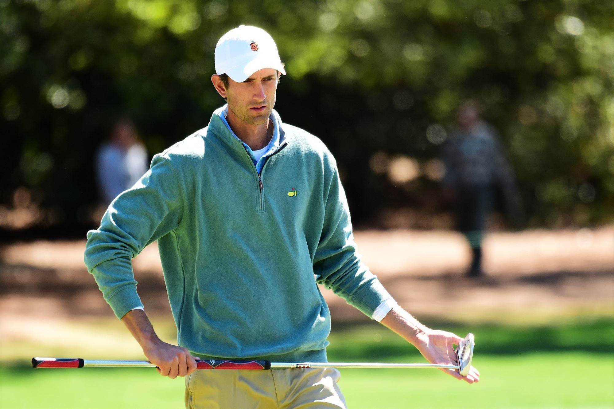 masters curtis luck joins the pro ranks golf magazine financial analyst stewart hagestad collected he silver cup for being low amateur at the masters photo rob carr getty images