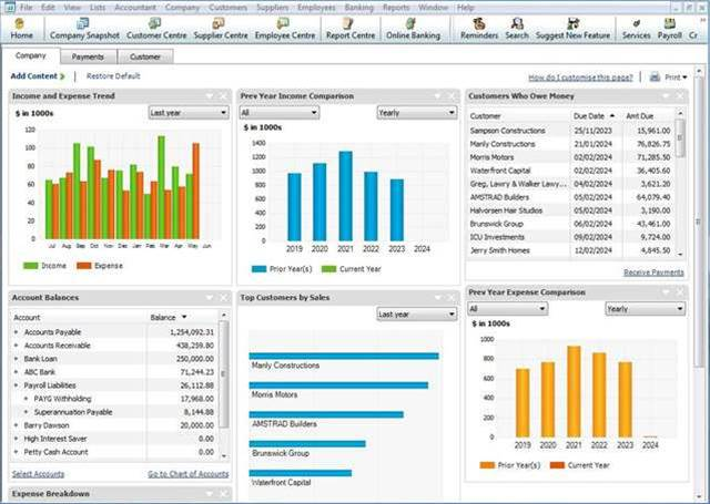 Reckon accounting: 5 products compared in a feature table - Software