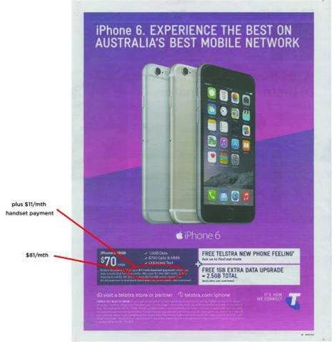 Telstra penalised $102,000 for iPhone 6 ad - Mobility
