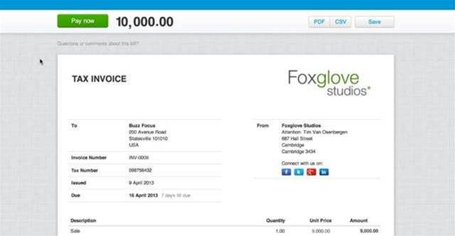 "xero announces new ""pay now"" button for online invoices - bit, Invoice templates"