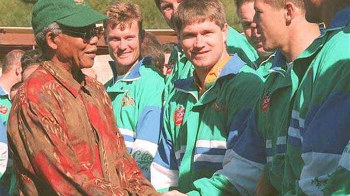 62f73072e5a Flashback to the 1995 Rugby World Cup. Take a look back when South Africa  ...