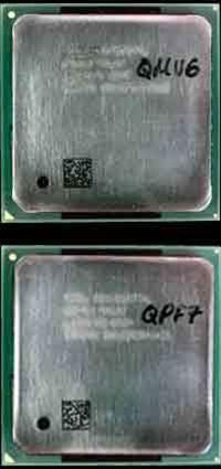 Intel C1 Pentium 4 and 2GHz Celeron