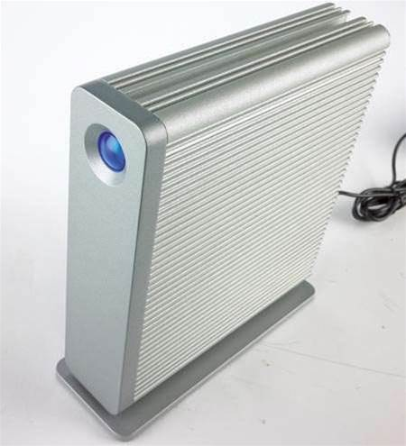 LaCie d2 Network (1TB): a silver media box for your lounge room