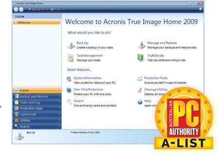 Acronis True Image 2009, still a superb way to backup