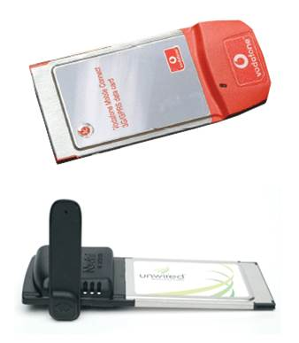 Unwired Wireless Card and Vodafone Mobile Connect 3G/GPRS data card