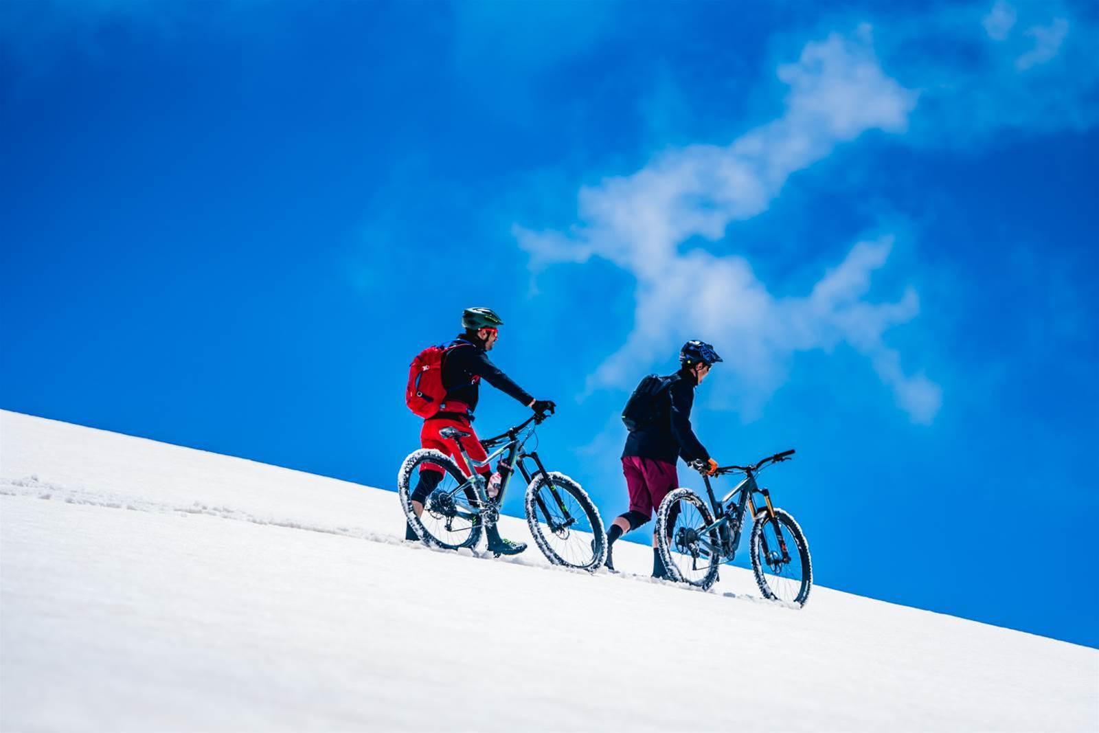 Alpine mountain biking