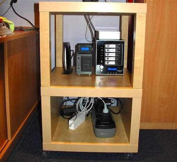 Home office: making a cheap IKEA server rack