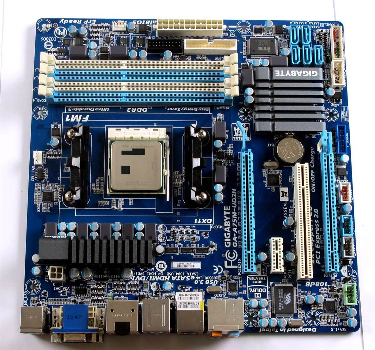 Gigabyte's A75M-UD2H is the kind of mainstream motherboard that the A series APU will be perfect for, small form factor and enough expandability to make an excellent media box for example.