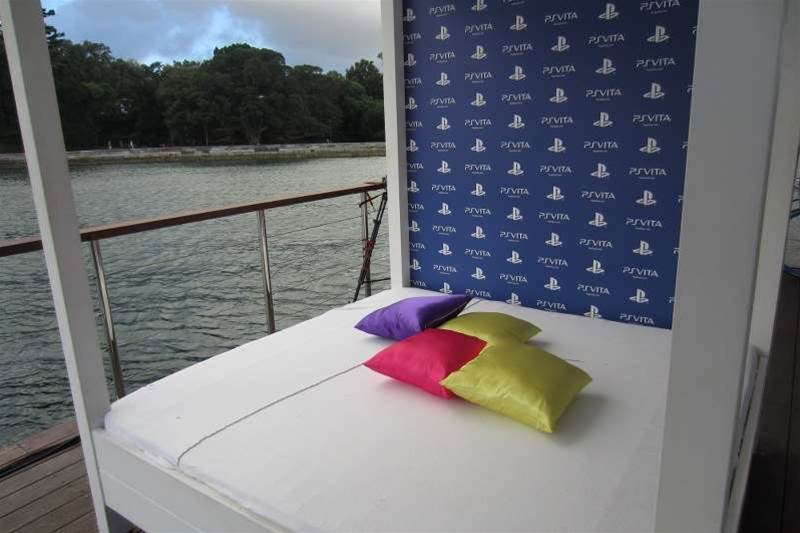 <h2>In Pictures: PlayStation Vita Australian launch party</h2>The guest barge contained an assortment of beds. Go figure.