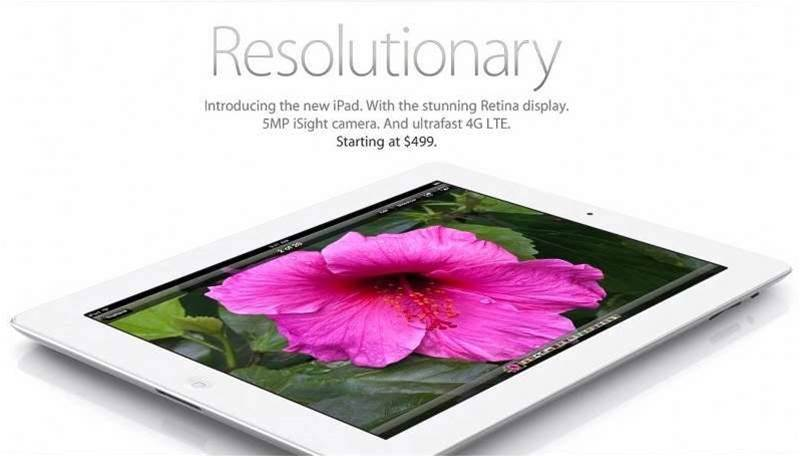 <h2>In Pictures: Apple iPad 3</h2>'Resolutionary'. That's the catchphrase of Apple's latest iPad tablet, which has a 9.7in retina display with 2048x1536 resolution.