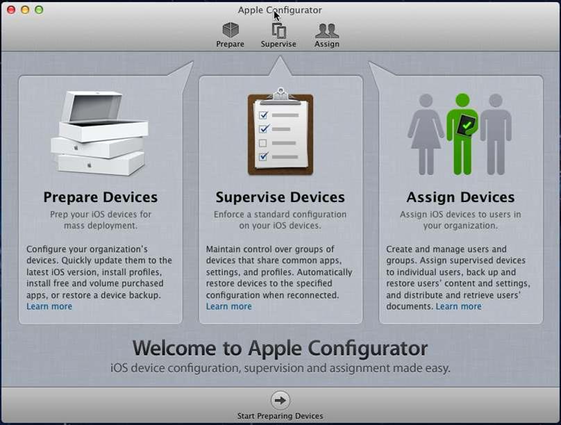 Screenshots: Apple's iOS Configurator