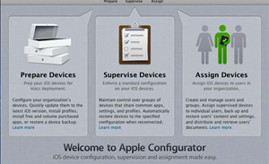 Screenshots: Apple's iOS Configurator