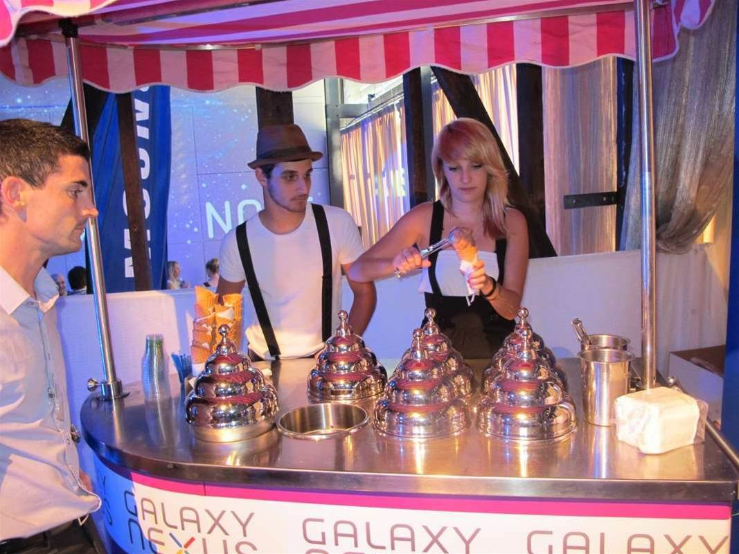 """<h2>In pictures: Samsung launches the Galaxy Note</h2>The Samsung Galaxy Note will ship with Android 2.3 Gingerbread, although an Ice Cream Sandwich update is promised for the future. (Which explains why there was an ice cream stand at the event. We think.)<br><br> <b><a href=""""http://www.pcauthority.com.au/News/293647,samsung-releases-galaxy-note-to-australians.aspx """" target=""""_blank"""">Click here for availability, pricing and additional spec info.</a></b>"""