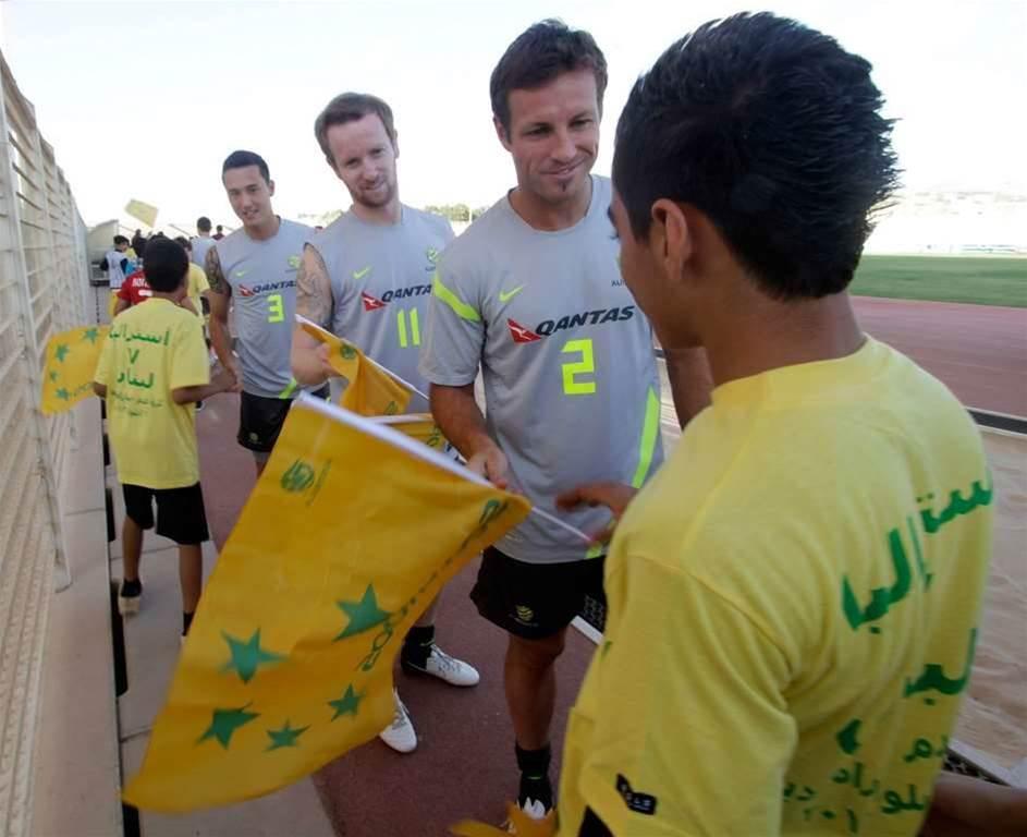 Socceroos Train In Beirut