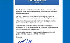 Screenshots: The Liberal broadband survey