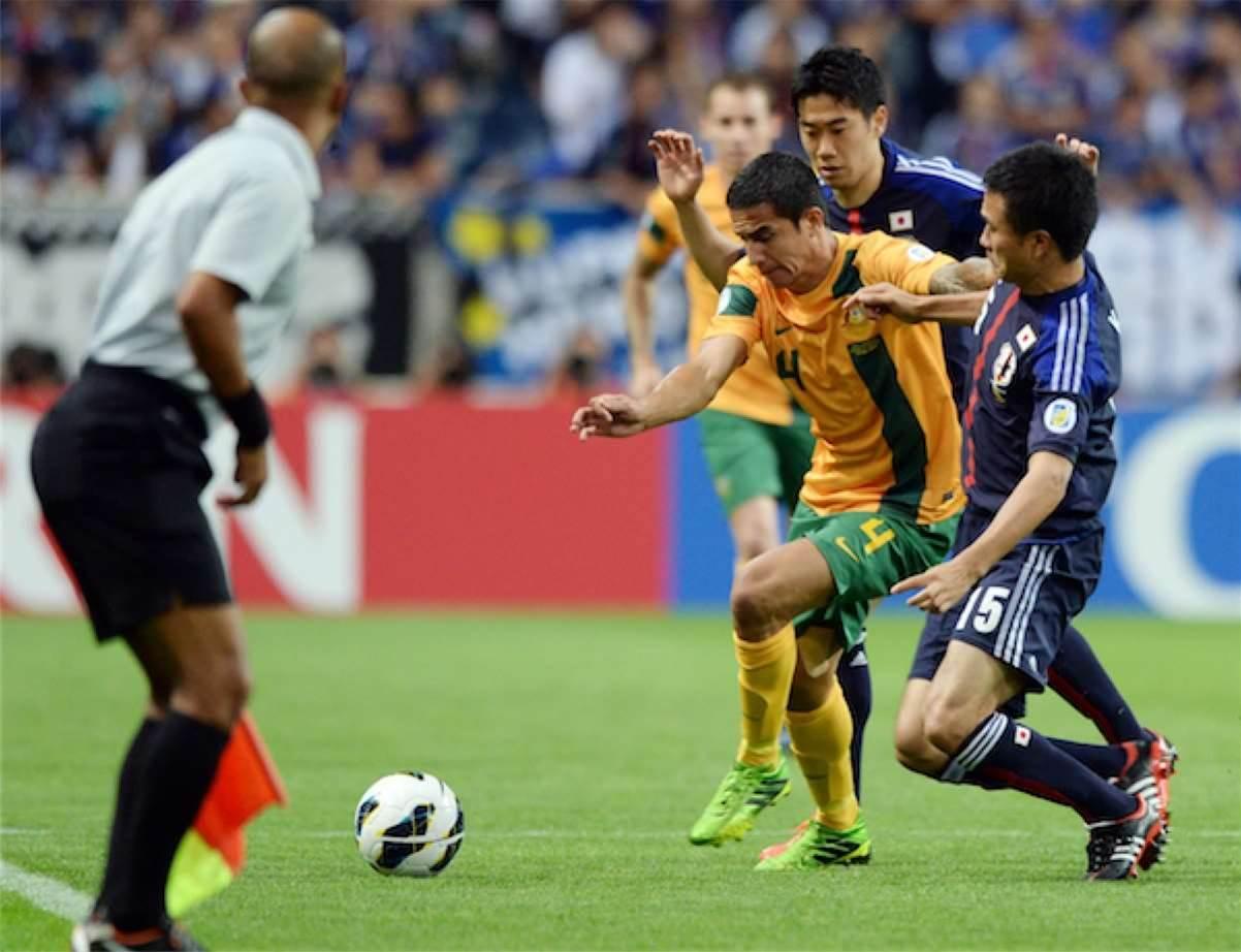 Japan v Socceroos match action