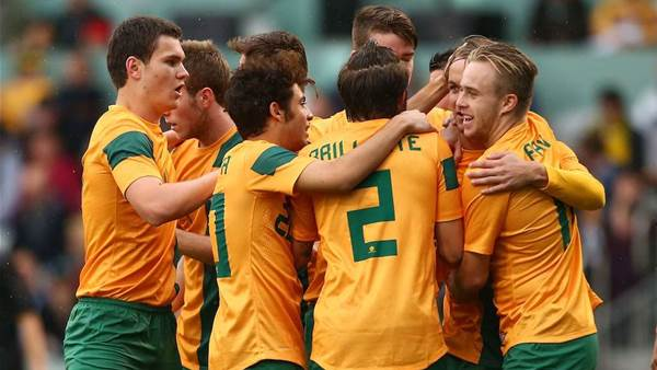 Young Roos v NZ U20s action
