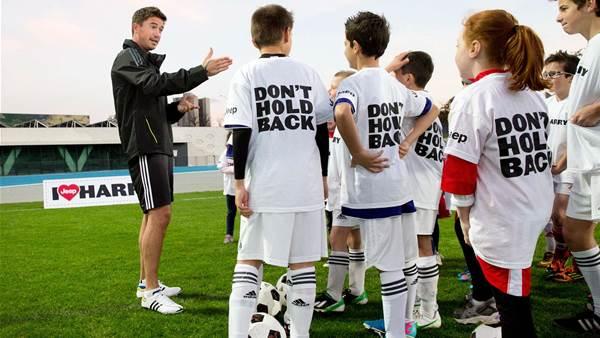 Harry Kewell kids training session