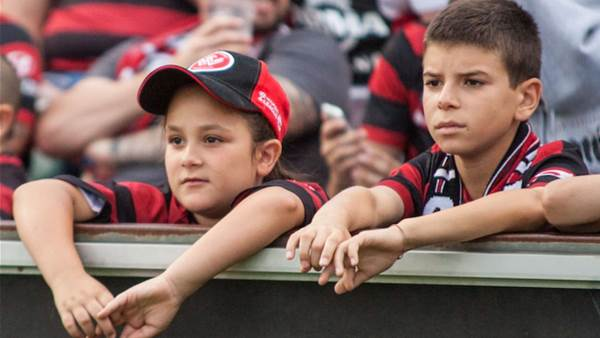 Fans at the Wanderers match
