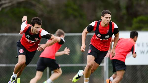 Wanderers training pics