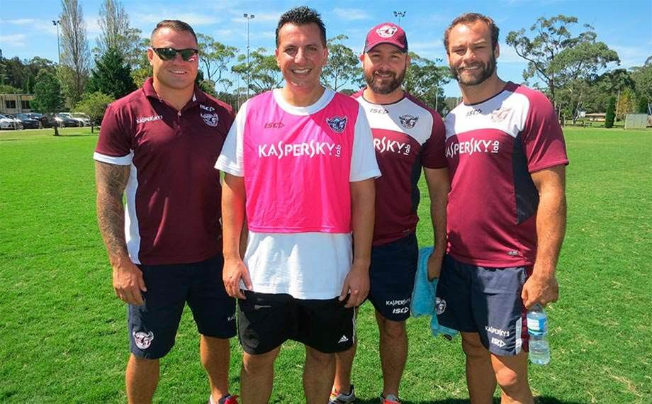 Kaspersky vs Manly Sea Eagles footy day