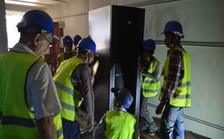 Photos: Aussie firm and Emerson deliver modular data centres to Myanmar