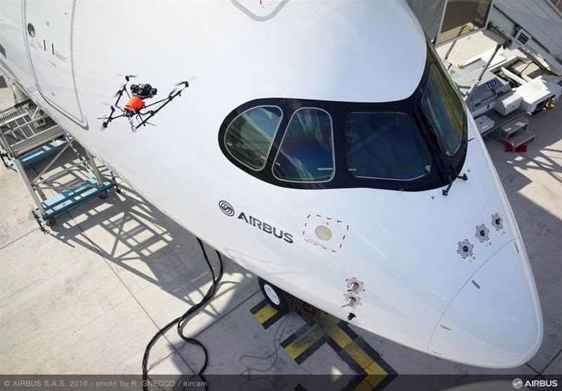 Photos: Airbus is using drones to inspect aircraft