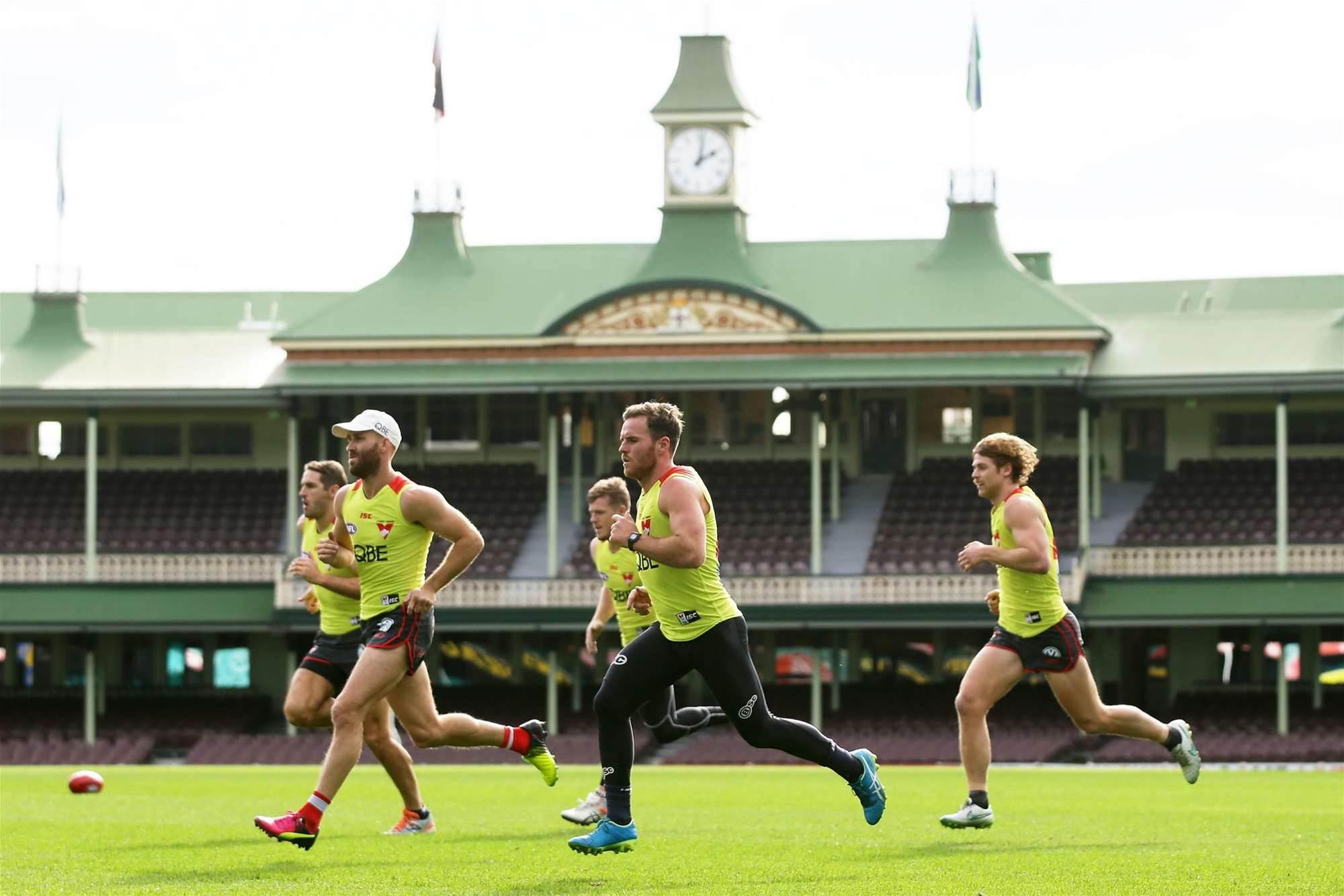 Sydney Swans train