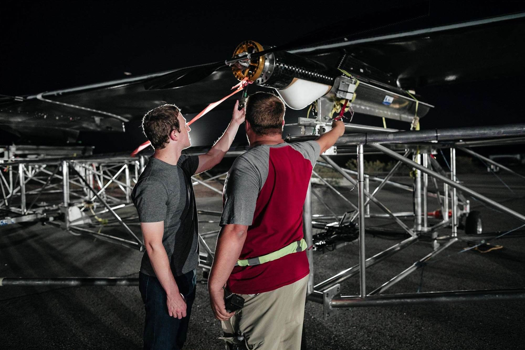 Photos: Facebook's internet-beaming drone takes flight