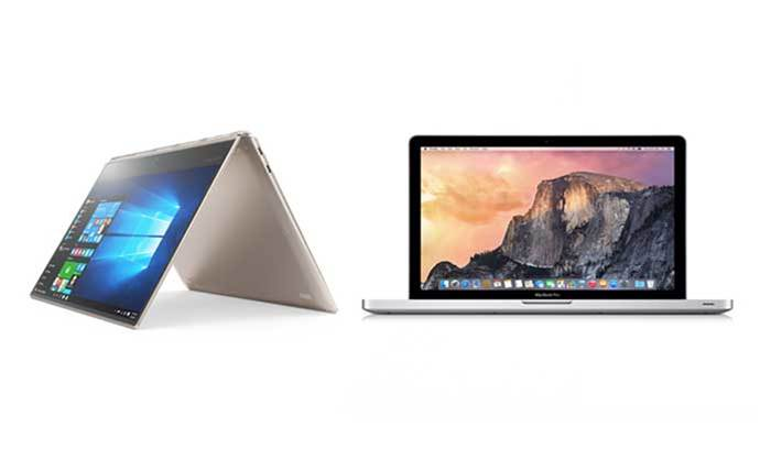 Lenovo Yoga 910 vs Apple MacBook Pro