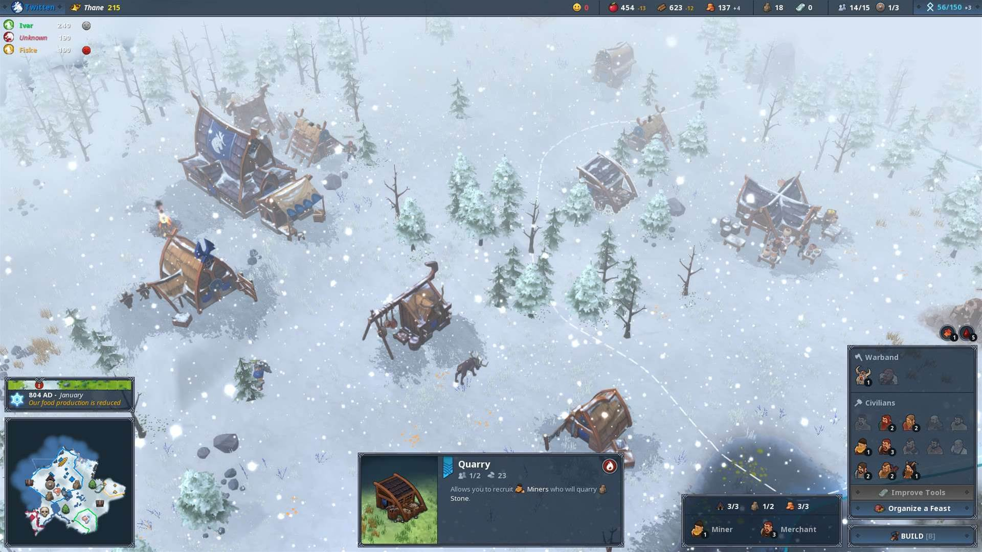 Frosty screenshots from Settlers-like Northgard