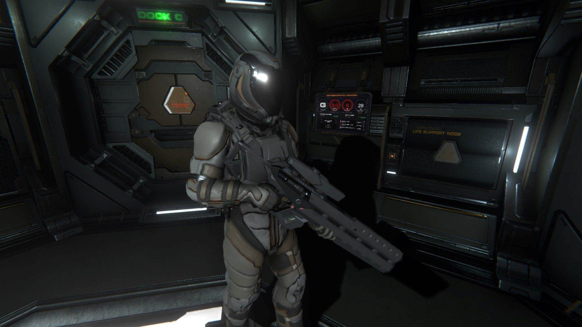 Dark screens for Early Access space game Hellion