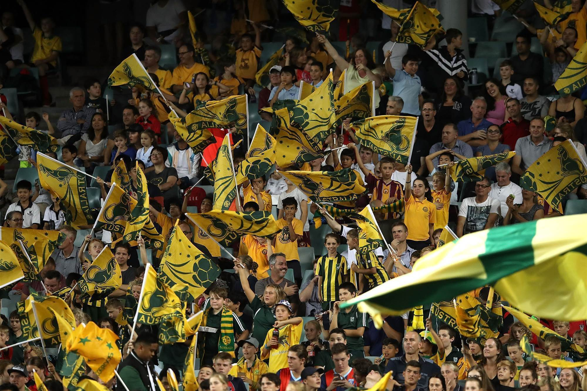 Gallery: Socceroos fans vs UAE