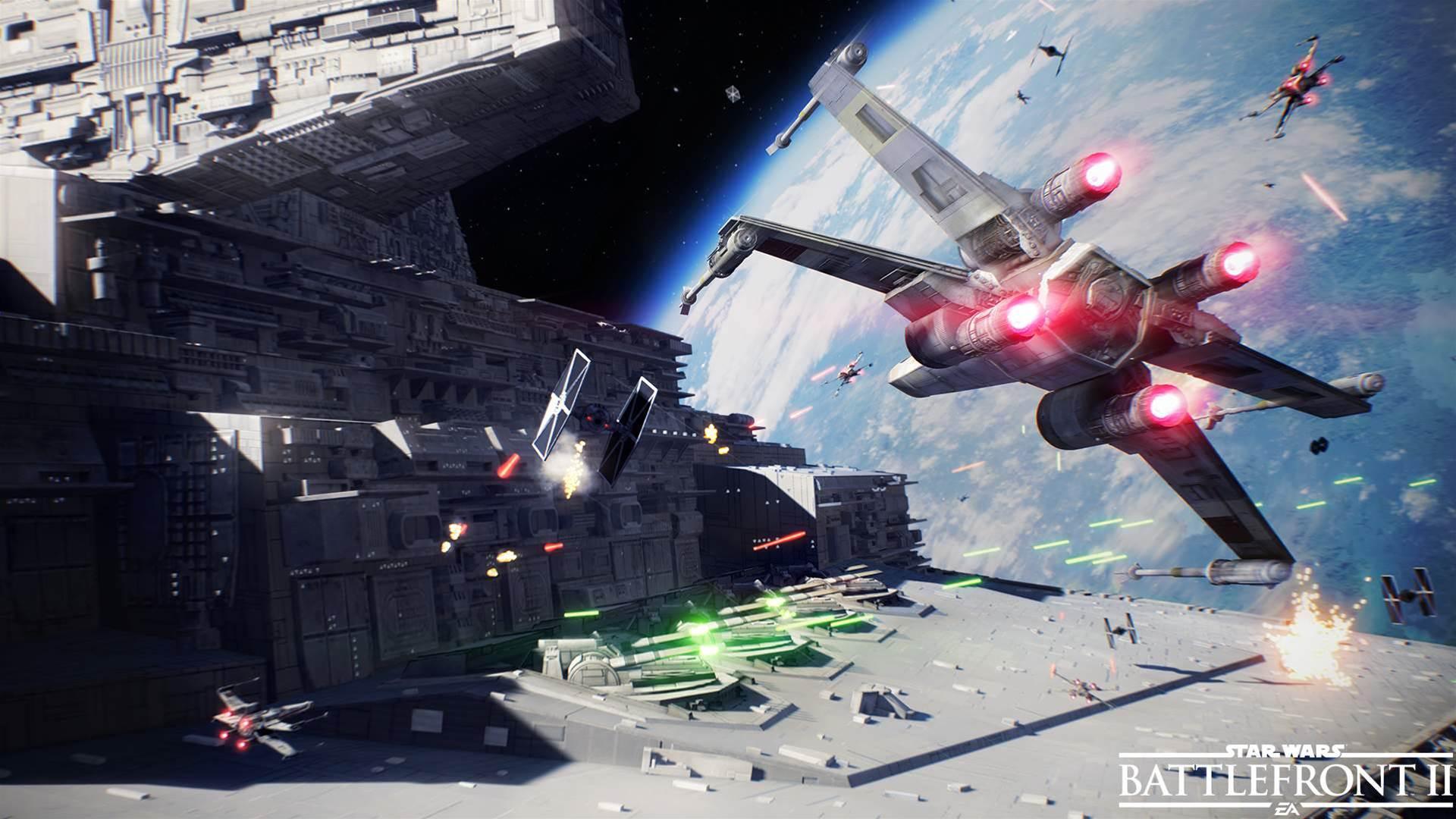 Teasing shots of EA's Star Wars Battlefront II