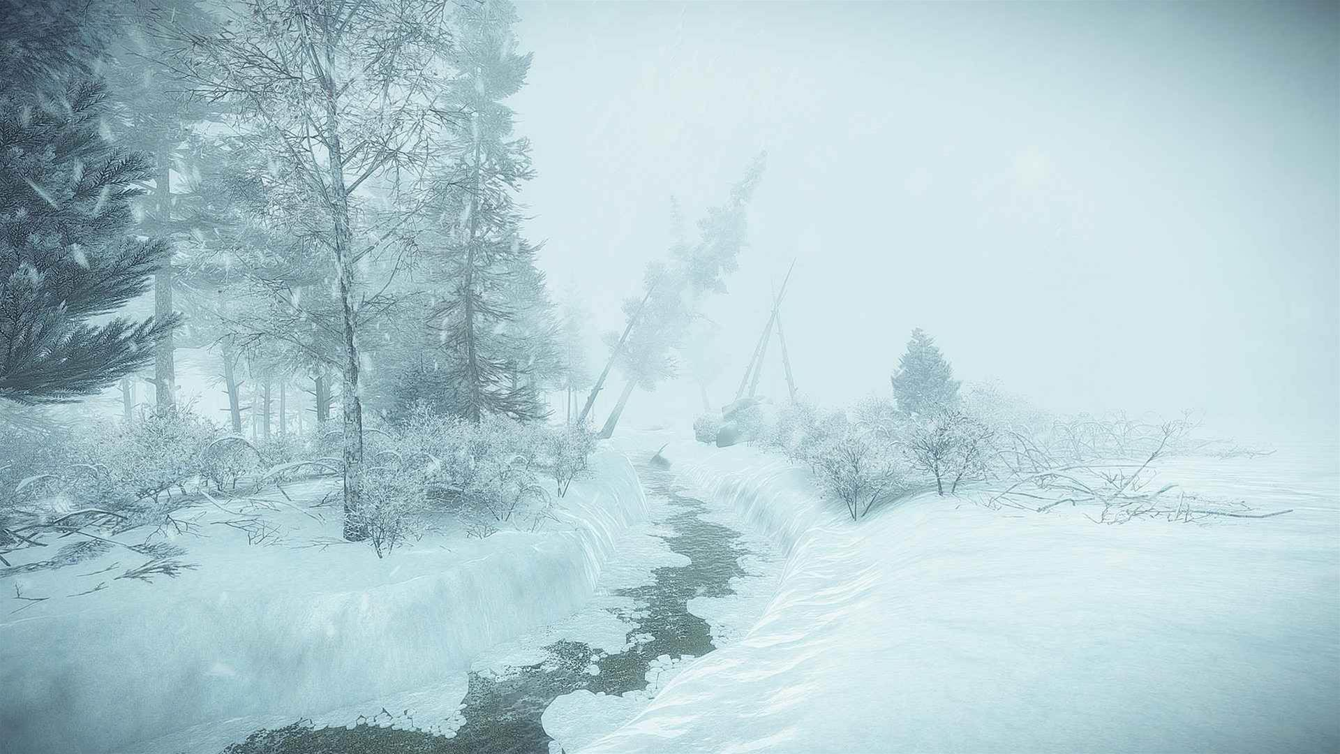 Icy screenshots for indie survival-mystery game Kona