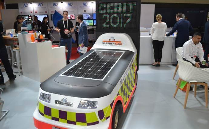 Around the stands at CeBIT 2017